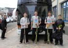 Juniori ieradušies pasaules čempionāta norises vietā Hamburgā