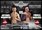 """Cīņu šovā """"Ringa kareivji"""" profesionālajā boksā debitēs Artjoms Mironcevs"""
