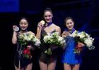 Kanādiete Osmonda negaidīti triumfē daiļslidošanas pasaules čempionātā