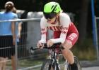 Jaunā triatloniste Leitāne Rīgā gūst sesto vietu Eiropas junioru kausa posmā