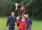 Penele pirmoreiz kļūst par Latvijas čempioni jāšanas sportā šķēršļu pārvarēšanā