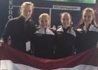 Latvijas skvošistes paliek astotās Eiropas komandu čempionāta vājākajā divīzijā