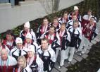 Foto: Latvijas izlases hokejisti olimpiskajā ciematā