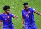 Kolumbija izcīna pārliecinošu uzvaru un laupa Polijai pēdējās cerības
