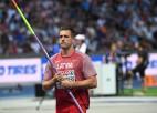Arī vīru šķēpmešanas fināls bez latviešiem, igaunim Kirtam kvalifikācijā 88,36 metri