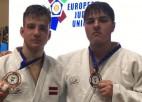 Džudistiem Gerkenam un Jarockim trešās vietas Eiropas junioru kausa posmā