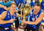 Latvijas sportisti Beginskis un Podnieks uzvar ratiņbasketbola Čempionu līgā