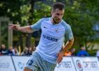 """Kozlova divi vārti ļauj """"Jelgavai"""" uzvarēt latviskā sastāvā spēlējošo """"Spartaku"""""""