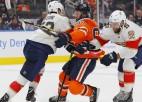 """Šoreiz neglābj arī Makdeivids ar Draizaitlu: """"Panthers"""" Edmontonā iemet sešas ripas"""