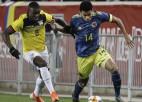 """Kolumbija turpina uzvaru sēriju pret Ekvadoru, ASV nodrošina Nāciju līgas """"play-off"""""""