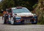 Latviešu komandas pilots Grjazins Francijas rallijā piekāpjas tikai WRC leģendai Lēbam