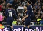 """PSG dažās minūtēs Madridē izglābjas no 0:2, pirmo vietu nodrošina arī """"Juventus"""""""