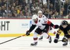 """Bļugeram -1, """"Penguins"""" bez Krosbija pārliecinoša astotā uzvara deviņās spēlēs"""