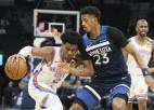 """""""Lakers"""" 9. uzvara pēc kārtas, """"Thunder"""" jaunietim 20+20+10, Bjelicam 8/10 trejačos"""