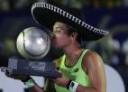 Vatsone otro reizi uzvar WTA turnīrā Meksikā