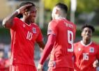 Sinani divi vārti 14 minūšu laikā Luksemburgas uzvarā, Melnkalne perfekta