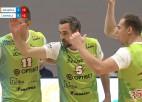 """Video: """"Jēkabpils Lūši"""" jaunu sporta halli atklāj ar uzvaru piecos setos"""