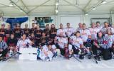 Foto: Ozo halles jubilejas mačā laukumā dodas arī Latvijas izlases hokejisti