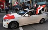 Foto: Kanādas fani priecājas un līksmo