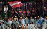 Foto: Olimpisko spēļu atklāšanas krāsas un emocijas