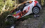 Foto: Lēba un citu WRC pilotu avarējušās mašīnas Korsikas rallijā