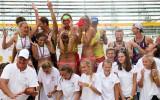 Foto: Kronēti jaunie Latvijas pludmales volejbola čempioni