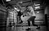 Foto: Porziņģis un Briedis aizvada treniņus boksa ringā