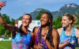 Video: 12 septiņcīņnieces, tostarp Ikauniece, vienojas stafetē attālināti
