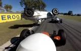 Video: Austrāliešu formulu pilote piedzīvo iespaidīgu negadījumu