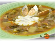 Fotorecepte: skābeņu zupa