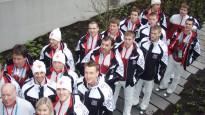Latvijas izlases hokejisti olimpiskajā ciematā
