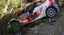 Lēba un citu WRC pilotu avarējušās mašīnas Korsikas rallijā
