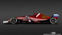 F1 sacīkšu mašīnas Pasaules kausa komandu krāsās