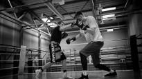 Porziņģis un Briedis aizvada treniņus boksa ringā
