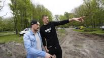 Liepājā sākusies Kristapa Porziņģa NBA basketbola laukuma būvniecība