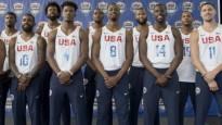 Bērnu sajūsma, tiekoties ar ASV basketbola izlasi