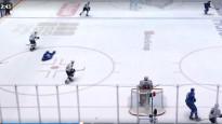 ''Barys'' hokejists pēc sadursmes <i>atslēdzas</i> un saņem sodu par simulāciju
