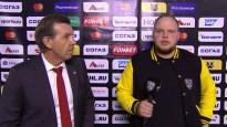 Znaroks neapmierināts ar KHL reportiera jautājumiem