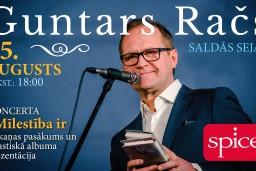 """Guntars Račs aicina uz akustiskā albuma """"Mīlestība ir"""" prezentācijas koncertu T/K """"Spice"""""""