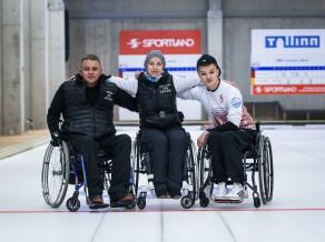 Latvijas ratiņkrēslu kērlinga izlase finišē otrā turnīrā Tallinā
