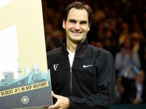 Federers kļūs par vecāko ATP ranga līderi