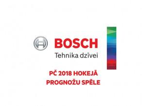 Piedalies Bosch PČ 2018 hokeja prognožu spēlē!