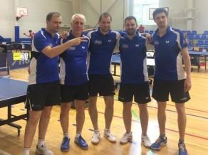 """Favorīti """"Baltais"""" un """"Universitātes sports"""" uzvar Latvijas komandu čempionātā galda tenisā"""