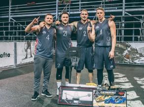"""Par """"Ghetto Basket"""" sezonas pirmā """"Quest"""" uzvarētājiem kļūst """"LSA up"""""""