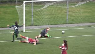 Video: Latvijas U17 meiteņu futbola izlase izcīna punktu  pret Velsu
