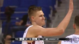 Porziņģa danks - FIBA veidotā Eiropas čempionāta Top10 epizožu 2. vietā