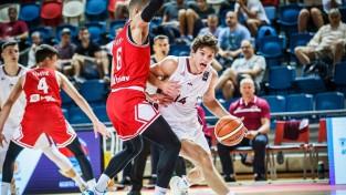 Latvijas U20 izlasei slikta otrā ceturtdaļa un zaudējums Horvātijai
