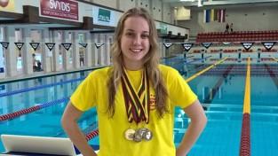 Peldētāja Baikova Eiropas čempionātā labo Latvijas rekordu 400 metros brīvajā stilā