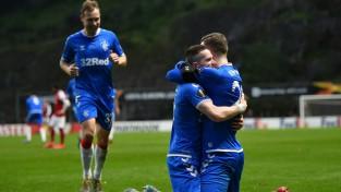 """Glāzgovas """"Rangers"""" uzvar arī Bragā un iekļūst Eiropas līgas 1/8 finālā"""