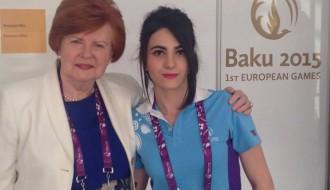 Foto: Latvijas valsts eksprezidente apciemo mūsējos Eiropas spēlēs